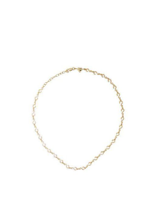 Alison Lou - Metallic Yellow-gold Question Mark Choker - Lyst