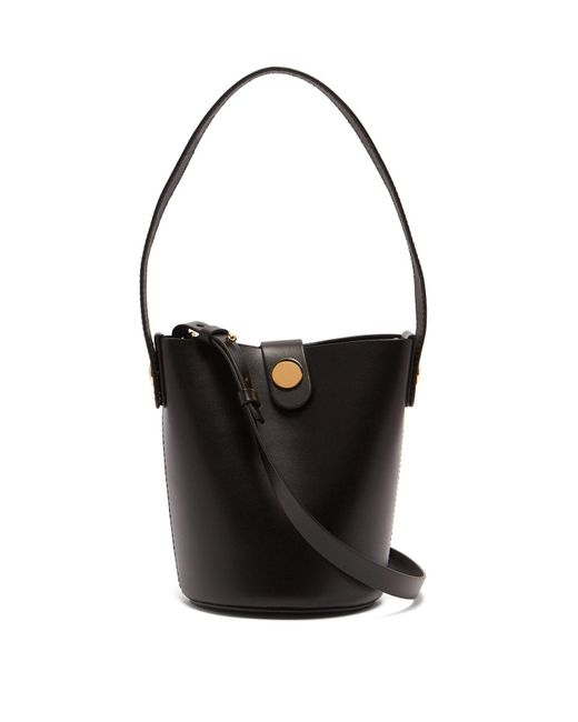 Sophie Hulme - Black Nano Swing Leather Bucket Bag - Lyst