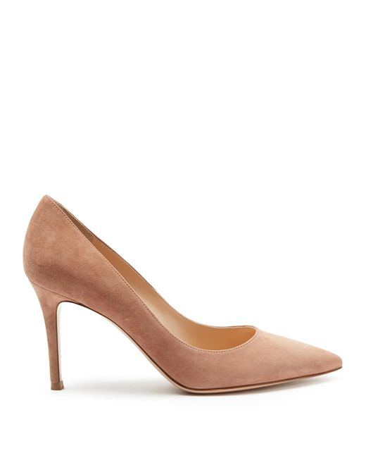Gianvito Rossi | Natural Gianvito Point-toe Suede Pumps | Lyst