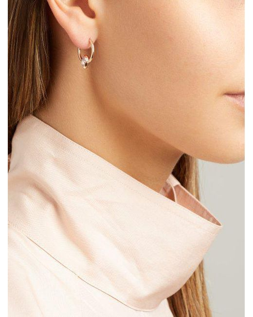 Marie Mas Swinging Mini Hoop 18kt rose gold earrings VmlrztuGv