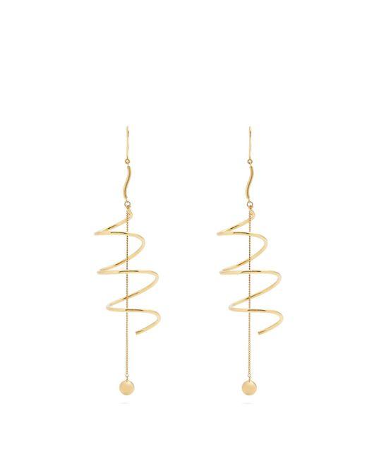 Ellery | Metallic Solitude Pendant-drop Gold-plated Earrings | Lyst