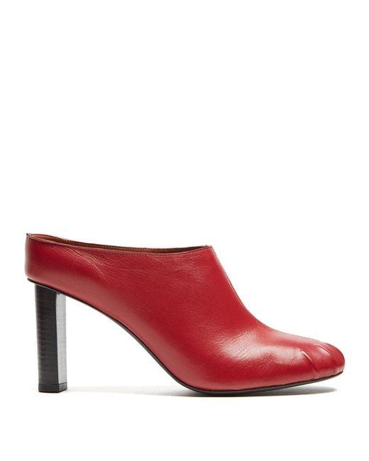 Joseph - Red Block-heel Leather Mules - Lyst