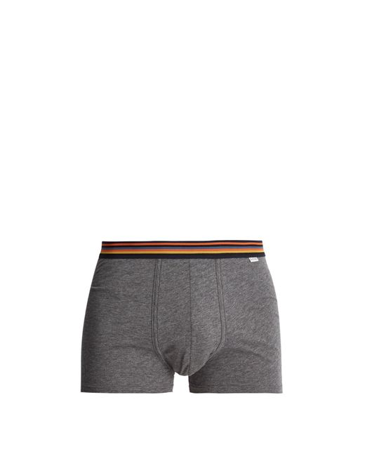 Paul Smith | Gray Cotton-jersey Boxer Briefs for Men | Lyst