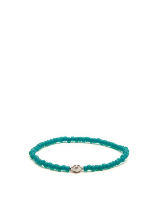 Luis Morais   Green Bead And White-gold Bracelet for Men   Lyst