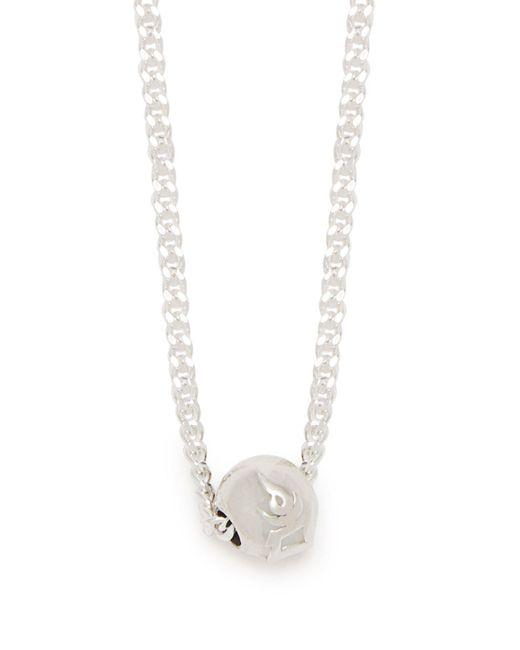 Black Dakini - Metallic Bead-embellished Sterling-silver Necklace for Men - Lyst