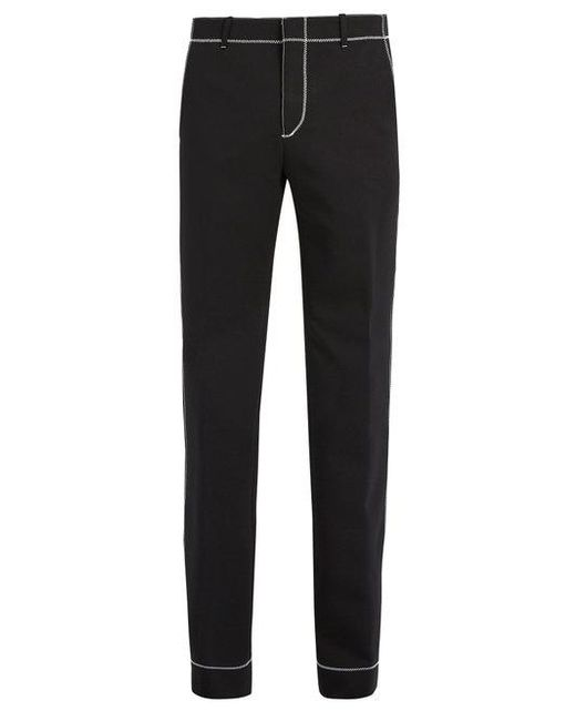 Givenchy - Black Stitch-detail Straight-leg Trousers for Men - Lyst