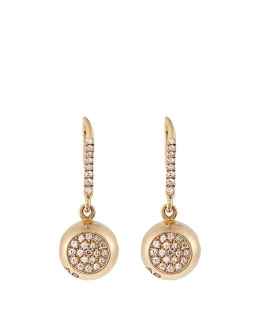 Aurelie Bidermann | Metallic Diamond & Yellow-gold Earrings | Lyst