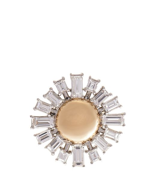 Susan Foster | Diamond, Platinum & Yellow-Gold Ring | Lyst