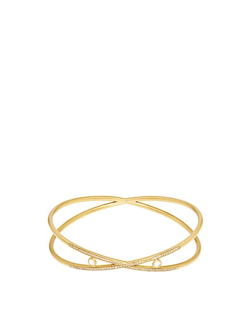 Susan Foster | Metallic Diamond & Yellow-gold Bangle | Lyst