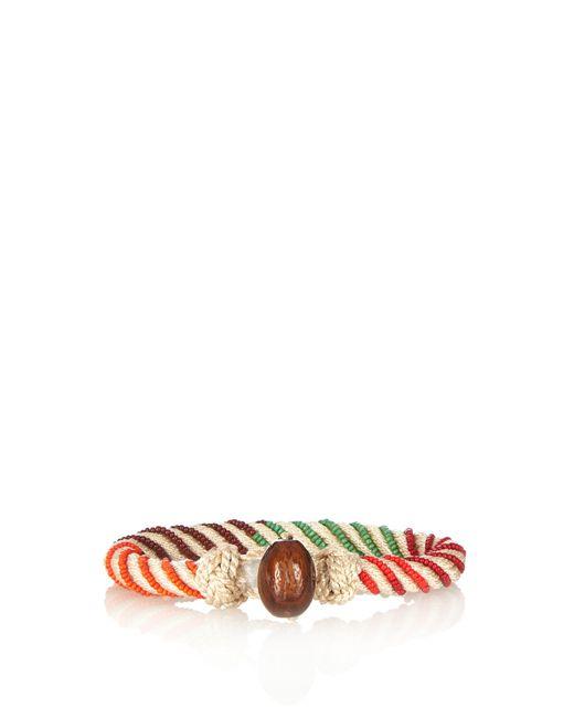 Aurelie Bidermann | White Maya Bead-embellished Bracelet | Lyst