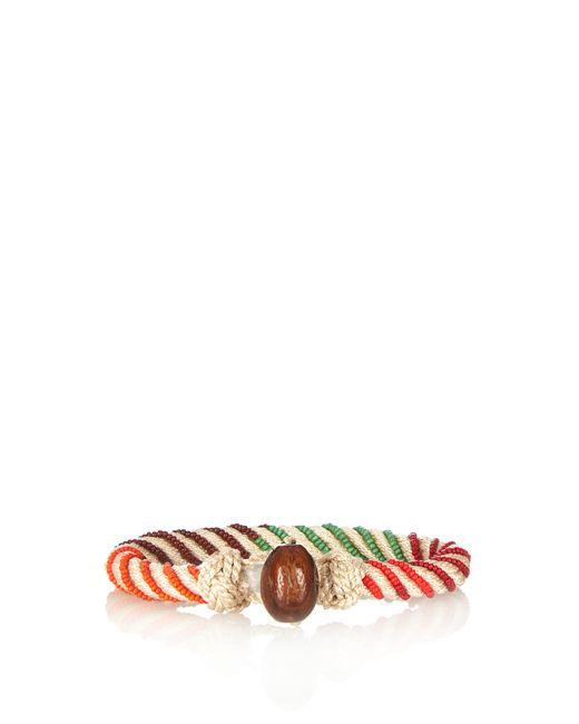 Aurelie Bidermann   White Maya Bead-embellished Bracelet   Lyst