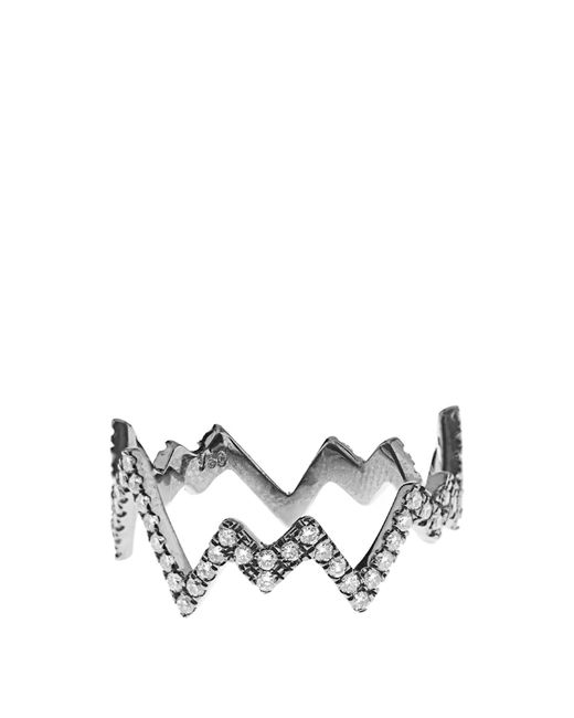 Diane Kordas | White-Diamond & Black-Gold Pop Art Ring | Lyst