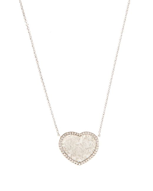 Susan Foster | Metallic Diamond Slice & White-gold Necklace | Lyst