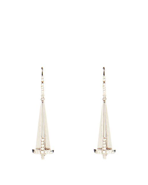Susan Foster | Diamond & White-gold Earrings | Lyst