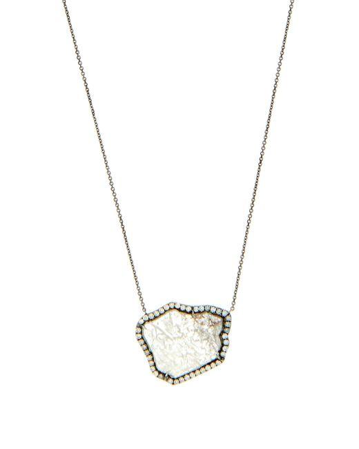 Susan Foster | Metallic Diamond Slice & White-gold Necklace | Lyst