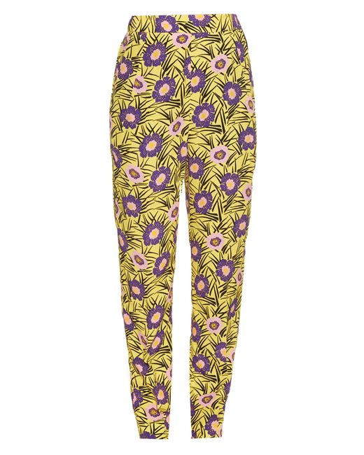 Marni | Yellow Asticon-print High-rise Straight-leg Trousers | Lyst