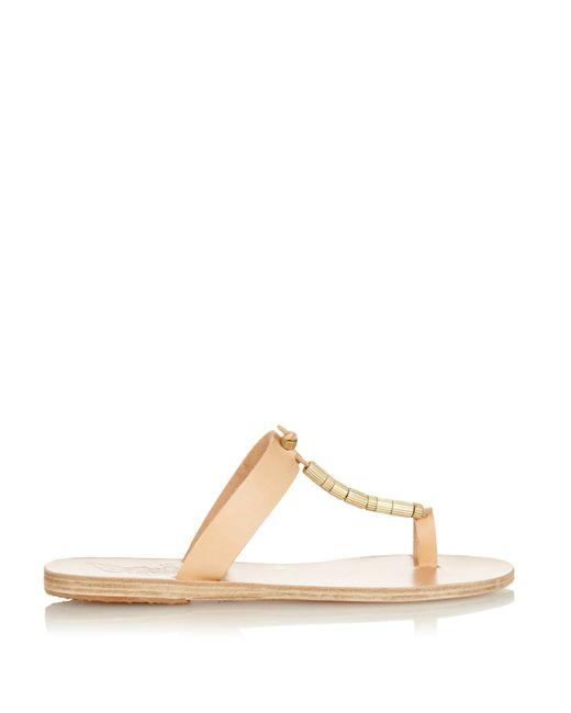 Ancient Greek Sandals   Brown Iris Column Leather Sandals   Lyst