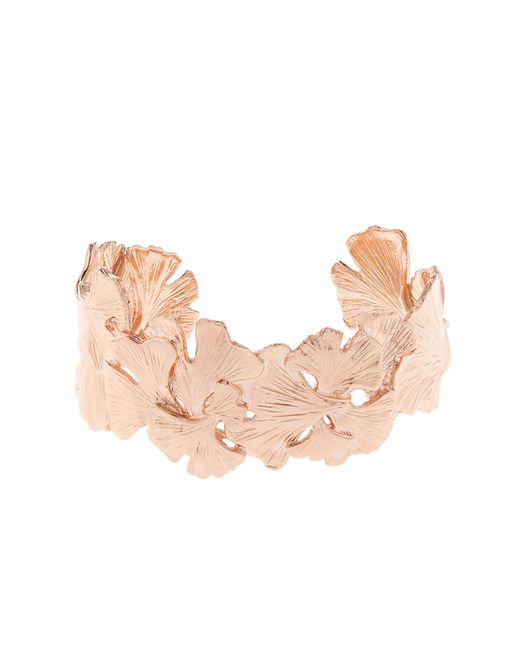 Aurelie Bidermann | Metallic Ginkgo Rose Gold-plated Small Cuff | Lyst