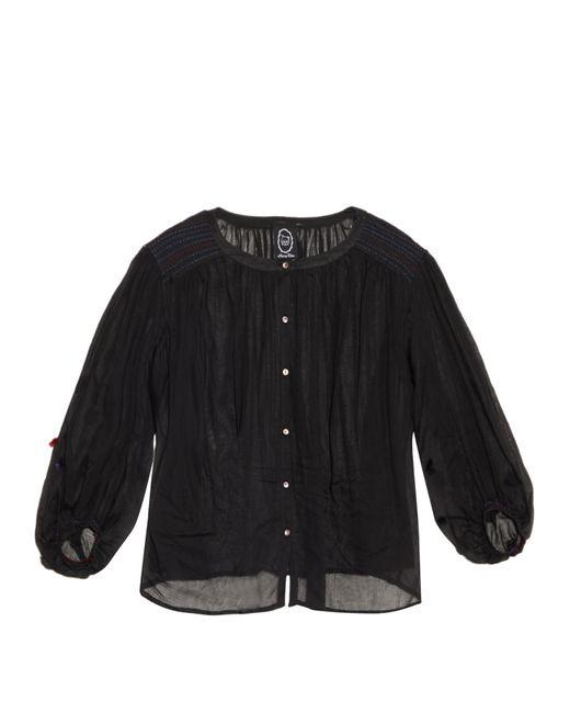 Thierry Colson | Black Pandora Cotton-voile Blouse | Lyst