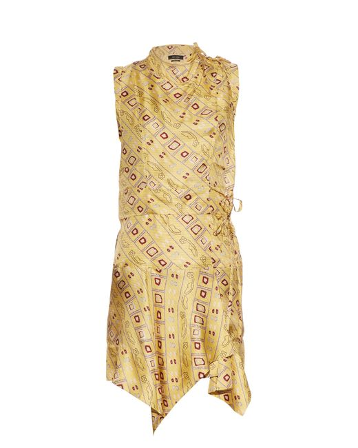 Isabel Marant | Multicolor Tabby Printed Silk Dress | Lyst