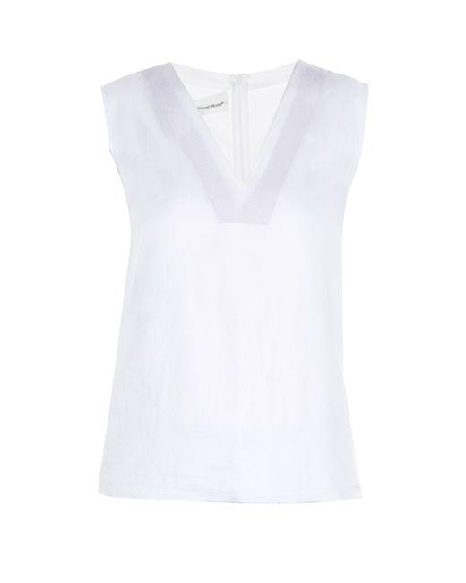 Golden Goose Deluxe Brand   White Josie V-neck Sleeveless Top   Lyst