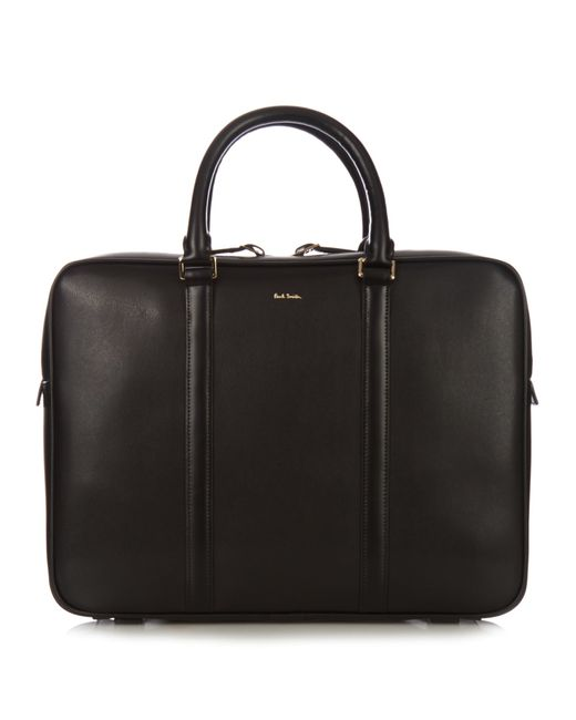 Paul Smith   Black Leather Briefcase for Men   Lyst