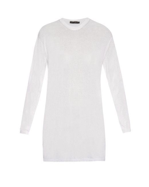 Calvin Klein | White Baber Long-sleeved Cotton-blend Jersey Top | Lyst