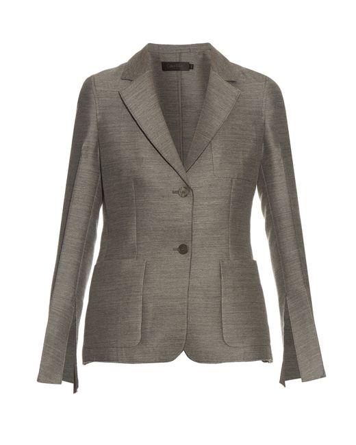 Calvin Klein | Gray Hamlin Single-breasted Wool And Silk-blend Blazer | Lyst