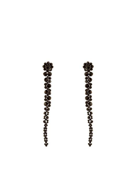 Simone Rocha   Black Beaded Drop Earrings   Lyst