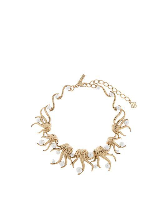 Oscar de la Renta | Metallic Gold-plated Fern Necklace | Lyst