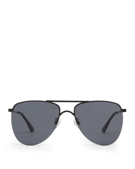 le specs the prince aviator sunglasses in black lyst. Black Bedroom Furniture Sets. Home Design Ideas