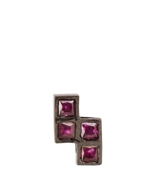 Ileana Makri | Ruby & Oxidised White-gold Earring | Lyst