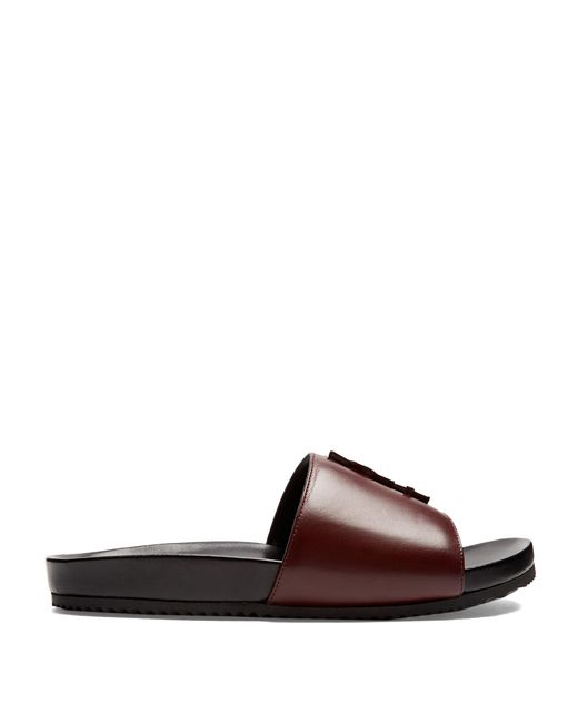 Saint Laurent | Multicolor Joan Leather Slides | Lyst