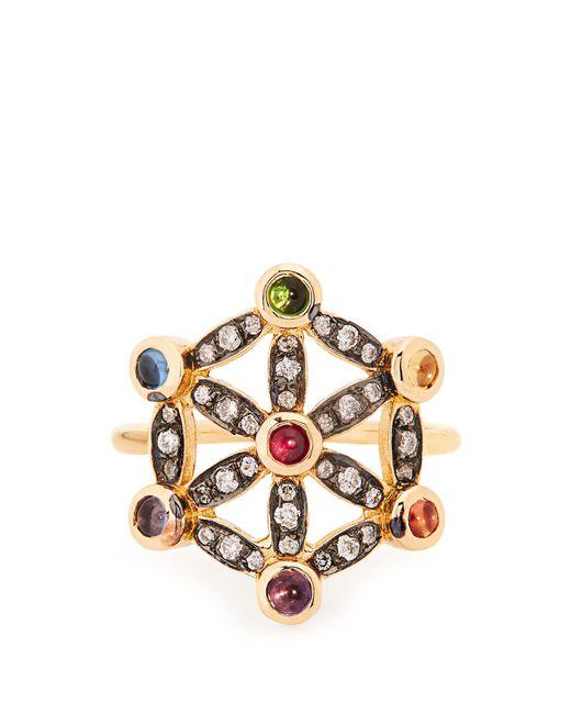 Noor Fares   Metallic Diamond, Multi-stone & Yellow-gold Pinky Ring   Lyst