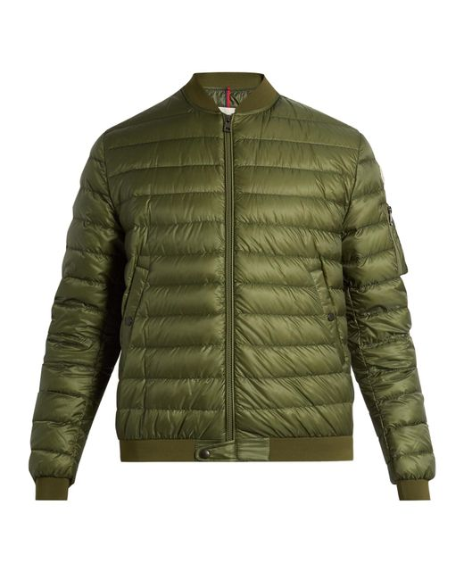 Moncler | Green Aidan Quilted Down Jacket for Men | Lyst