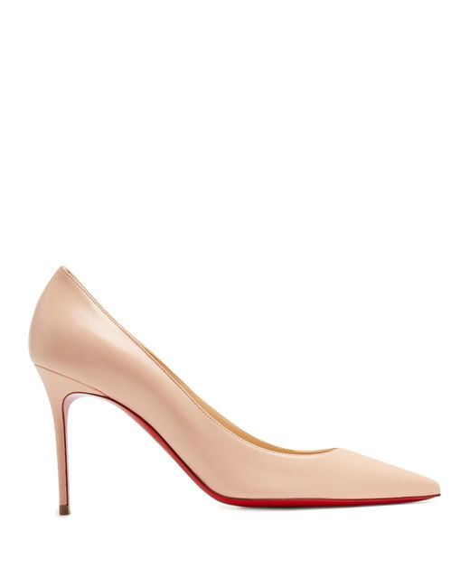 Christian Louboutin | Pink Decollete 85mm Leather Pumps | Lyst