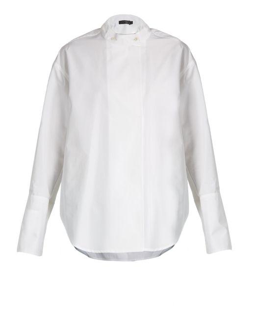 Calvin Klein   White Larabee Granddad-collar Cotton Shirt   Lyst