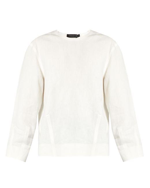 Calvin Klein | White Lotti Linen Herringbone Top | Lyst