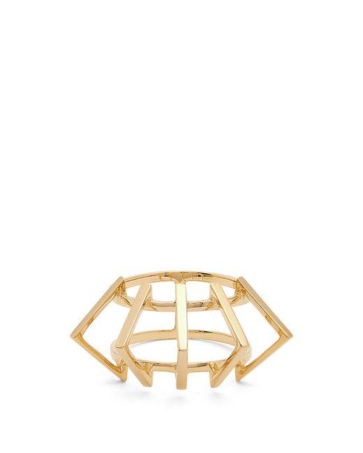 Azlee | Metallic Circuit Yellow-gold Ring | Lyst