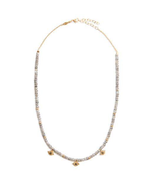 Jacquie Aiche   Gray Diamond, Labradorite & Yellow-gold Necklace   Lyst