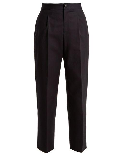 A.P.C. | Black Amalfi Stretch-cotton Cropped Trousers | Lyst