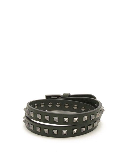 Valentino | Multicolor Wraparound Rockstud-embellished Leather Bracelet for Men | Lyst