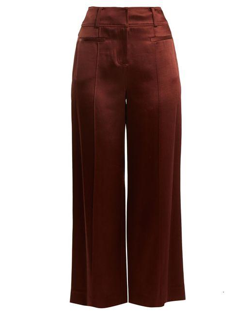 Diane von Furstenberg - Brown Wide-leg Pintucked Culottes - Lyst