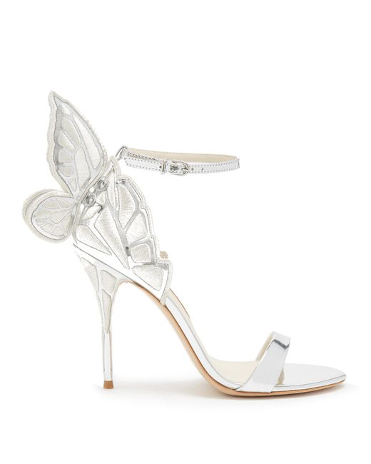 Sophia Webster | White Chiara Butterfly-wing Leather Sandals | Lyst