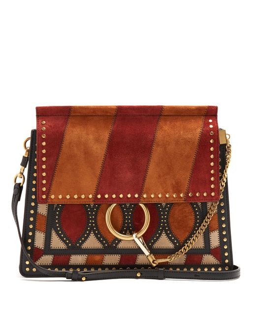 Chloé | Multicolor Faye Medium Suede And Leather Shoulder Bag | Lyst