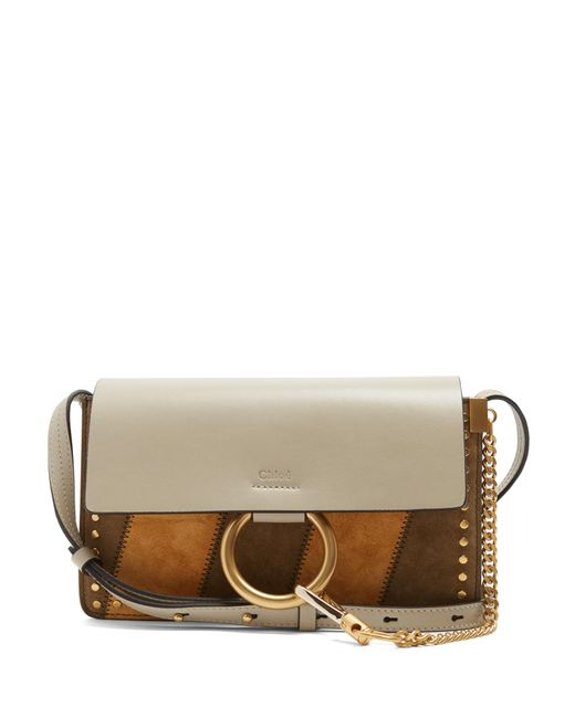 Chloé | Gray Faye Small Suede And Leather Cross-body Bag | Lyst