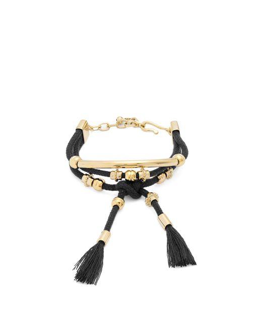 Chloé | Black Otis Layered Cord Bracelet | Lyst