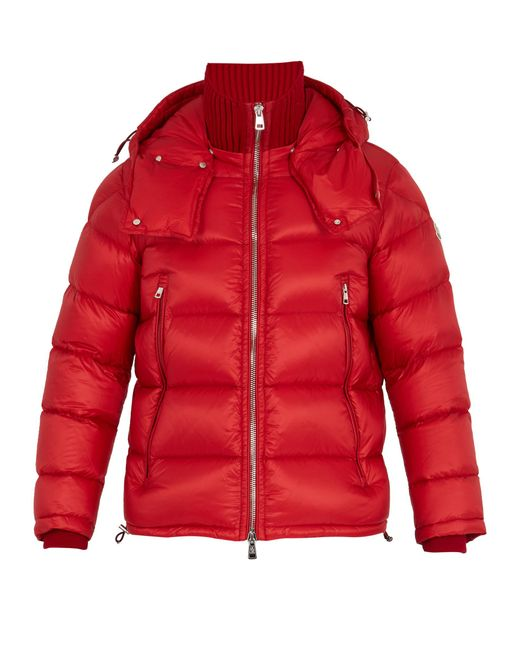 Moncler | Red Pascal Quilted Down Jacket for Men | Lyst