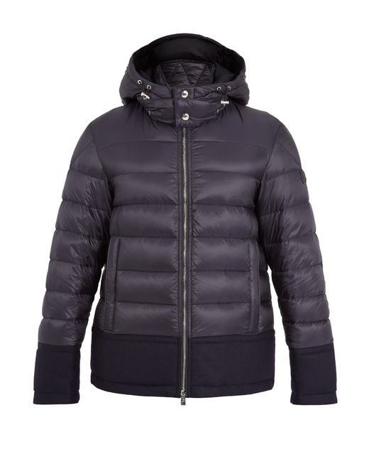 Moncler | Blue Riom Wool-trimmed Quilted Down Jacket for Men | Lyst