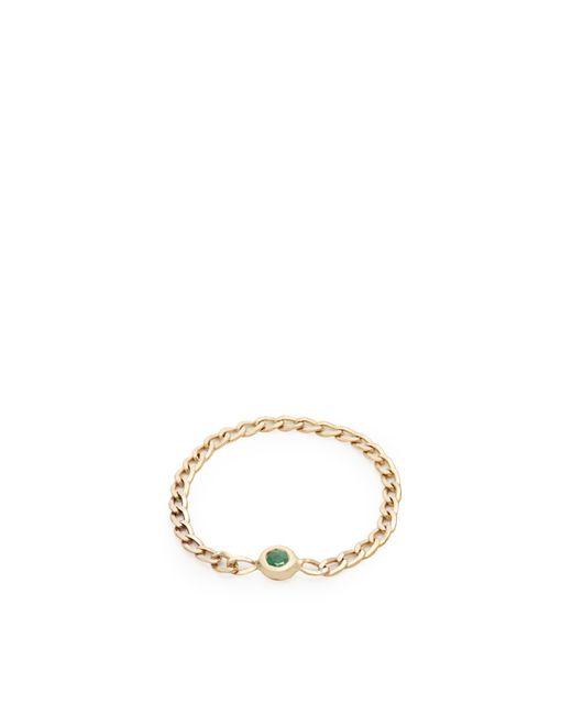 Loren Stewart | Metallic Emerald & Yellow-gold Chain Ring | Lyst